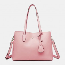 Women Large Capacity Solid Tote Crossbody Bag Handbag