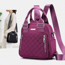 Women Large Capacity Multifunctional Waterproof Multi-Layer Shoulder Bag Backpack