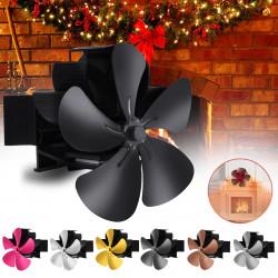 5 Blade Wall Mounted Stove Fan Fireplace Fan Winter Warm Heater Powered Fan 7.1inch 1500RPM Wood Burner