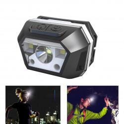 BIKIGHT 605B 100W Induction Headlamp Glare Rechargeable Night Fishing Lights Glare LED Telescopic Zoom Long Shot Headlights