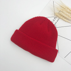 Unisex Solid Color Knitted Wool Hat Skull Cap Beanie hats