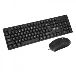 MIXIE X2 USB Wired Waterproof Business Office Keyboard and 1000DPI Office Mouse for PC Laptop