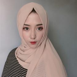 Women Solid Color Scarf Hijab Chiffon Long Scarf