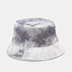 Tie-dye Ink Painting Pattern Fisherman Hat Double-sided Basin Hat Sun Hat Bucket Hat