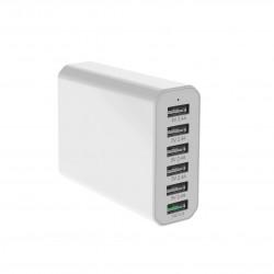 Stiger 60W QC3.0 6-Port/4-Port Power3S Smart USB Charger EU Plug for iPhone 11 Pro Max for Samsung S10+ Xiaomi Redmi K30 LG