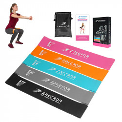 5PCS/Set 5-40LB Yoga Resistance Bands Home Fitness Pull Band Strength Training Elastic Belt w/ Storage Bag