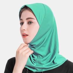 Solid Crystal Hemp Women Hijab Scarf