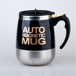 400/450ml Automatic Electric Magnetic Self Stirring Mug Coffee Milk Mixing Mug Smart Stainless Steel Juice Mix Cup