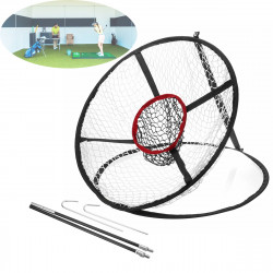 65x 54CM Foldable Golf Chipping Pitching Practice Net Hitting Cage Outdoor Golf Training Aid Tools