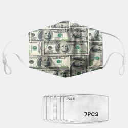 7-piece Gasket Set Daisy PM2.5 Masks Dollar Pattern Dust Mask