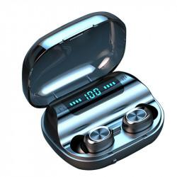 Mini TWS Wireless Earbuds bluetooth 5.0 Earphone LED Display HiFi Stereo Smart Touch Headphone with 1200mAh Power Bank