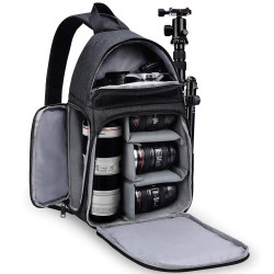 Multifunctional Waterproof DSLR/SLR Camera Bag Camping Travel Shoulder Bag Detachable Crossbody Bag