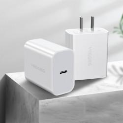 VEGGIEG 18W Type C USB Charger Fast Charging For iPhone XS 11Pro Huawei P30 Pro P40 Xiaomi Mi10 S20 5G
