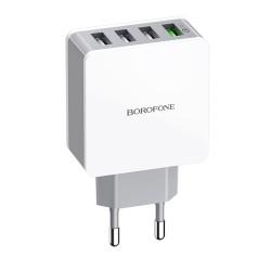 BOROFONE 4 USB 18W QC3.0 Fast Charging USB Charger Adapter For iPhone XS 11Pro Huawei P30 Pro Mate 30 Xiaomi Mi10 Redmi K30 Oneplus 7T 5G