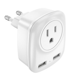 Bakeey 2.4A Fast Charging American Jack Dual USB Charger Regulator Adapter For iPhone XS 11Pro Huawei P30 Pro Mate 30 Xiaomi Mi10 Redmi K30 Poco X2 S20 5G