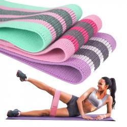 KALOAD 3Pcs/Set Resistance Bands Loops w/ Storage Bag Home Workout Fitness Elastic Ring Yoga Pull Rope