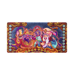 BUBM JRZD-C Chinese Gods Desktop Mouse Pad Rubber Gaming Table Mat Writing Mat for Office Home