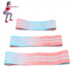 1PC Gradient Color Hip Training Resistance Band Home Fitness Yoga Belt Legs Muscle Elastic Band Exercise Tools