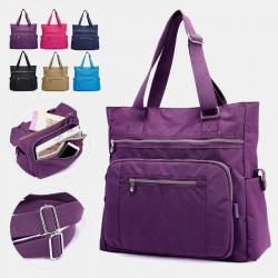 Women Large Capacity Nylon Waterproof Handbag Shoulder Bag For Outdoor Travel