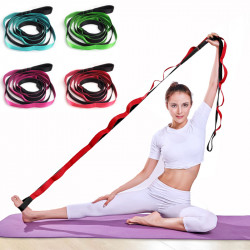 KALOAD Lengthened Nylon Fitness Yoga Band Tension Stretching Belt Pull Strap Home Pilates Resistance Bands