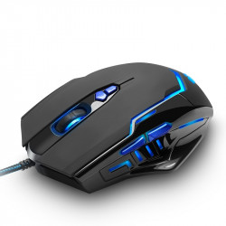 Rocketek GM02 3200 DPI 7 buttons Led Backlight USB wired Gaming optical Mouse for Game Laptop Computer