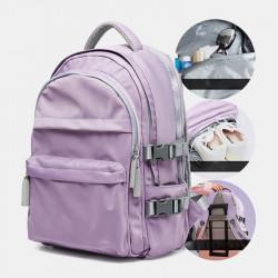 Women Large Capacity Backpack School Bag Waterproof Solid Backpack