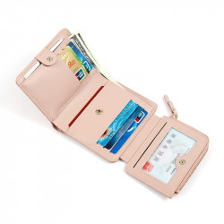 Women Fashion Faux Leather Short Wallet Multi Card Holder