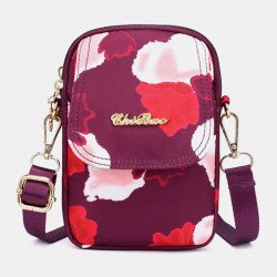Women Waterproof Large Capacity Shoulder Bag Crossbody Bag Phone Bag For Outdoor