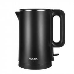 KONKA KEK-KM18 1.7L / 1500W Double Anti Hot Electric Kettle 304 Stainless Steel 6min Fast Boiling