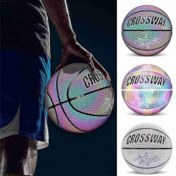 CROSSWAY Luminous Basketball PU Leather Wear-resistant Glowing No. 7 Basketball Team Sport Equipment