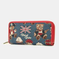Women Bear Pattern 8 Card Slots Clutch Bag Phone Bag Purse Long Wallet