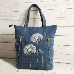 Women Large Capacity Flower Pattern Handbag Shoulder Bag