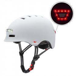 Wosawe Smart Bike Helmet Breathable Waterproof Headlight+Taillight USB Charging Warning Light