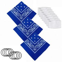 Neck Gaiter Filters Pad Multi-Purpose Bandanas Scarf Seamless Cover