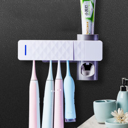 UV Toothbrush Sterilizer Toothbrush Holder Automatic Toothpaste Dispenser