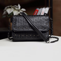 Fashion Women Lady Leather Skull Handbag Messenger Shoulder Clutch Crossbody Bag