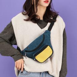 Women Men Fashion Multi-Color Waist Bag Shoulder Bag Chest Bag Crossbody Bag With Headphone Port