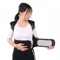 67 Magnets Pain Relief Shoulder Waist Support Warmer Heating Vest Back Massage Lumbar Adjustable Braces Waistcoat