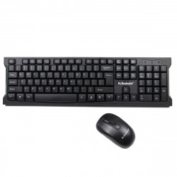 K-snake WK600 2.4GHz Wireless Keyboard Mouse Set 104 Keys Keyboard 1600DPI Wireless Mouse with USB Receiver