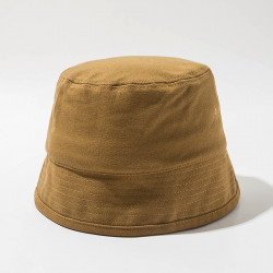 Unisex Solid Color Cotton Hat Bucket Hats