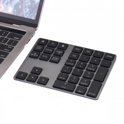 34 key USB Wired Aluminum Alloy Keyboard for PC Laptop Phone Oiffice
