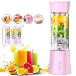 380ml Mixer Maker Fruit Blender Shaker Bottle 3 Modes USB Rechargeable DIY Juicer for Travel & Picnic