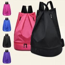 Nylon Dry Wet Clothes Separation Gym Training Yoga Shoe Bags Waterproof Hiking Storage Backpack Men Women