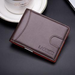 Men Genuine Leather Vintage RFID Blocking Anti-theft Cash Wallet Card Holder