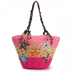 Summer Beach Coral Cane Straw Handmade Knitted Cute Shoulder Bag Handbag Tote