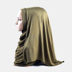 Hijab Amira Islamic Solid Soft Scarf Mercerized Cotton Long Hejab Head Shawls