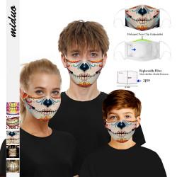 Filter Dustproof PM2.5 Smoke Mask 2 Gaskets Protective Adult Children Mask