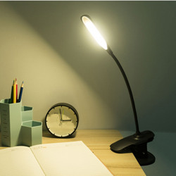 Bakeey USB Rechargeable LED Desk Lights Clip Flexible Eye Protection Reading Touch Lamp USB Charger