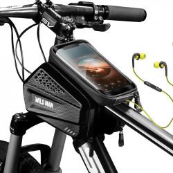 WILD MAN EVA+PU Waterproof Cycling Bag Bike Bag Bicycle Front Beam Bag