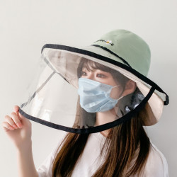 PVC Foldable Protective Caps Anti-Fog Saliva Dust Droplet Full Face Fisherman Hats Bucket Hat